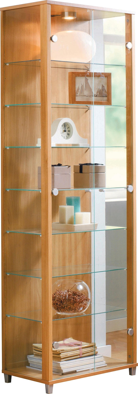 Argos Home 2 Glass Door Display Cabinet - Light Oak Effect