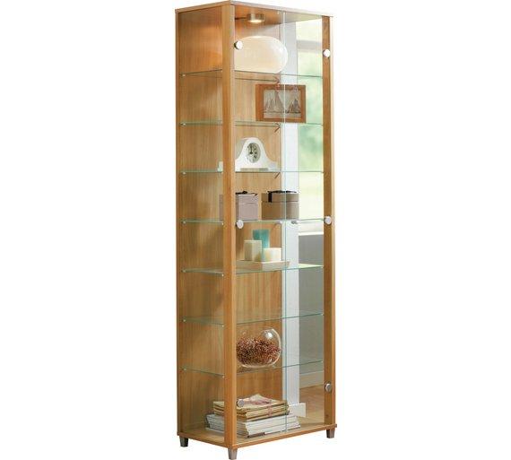 Buy HOME Double Glass Door Display Cabinet