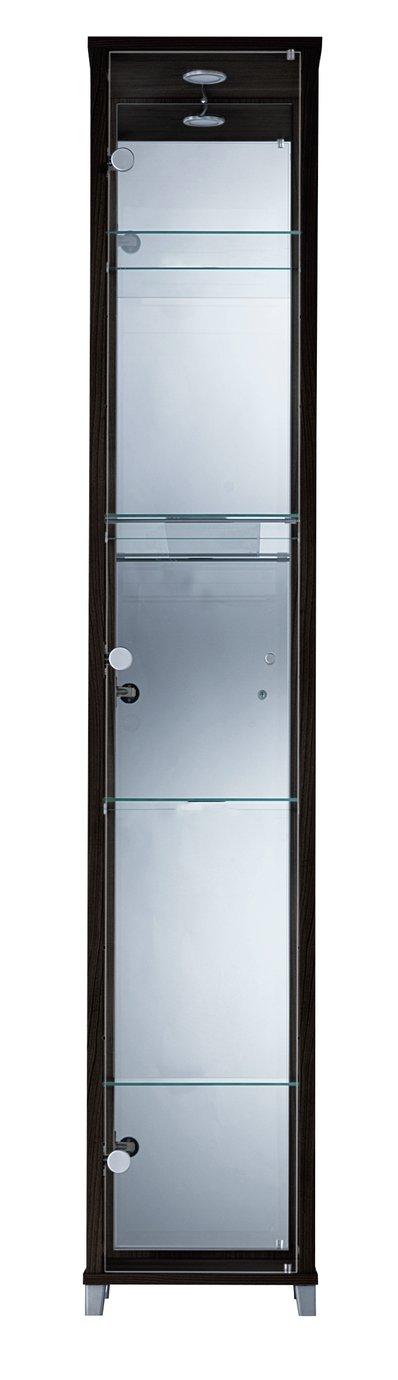 Argos Home 1 Glass Door Display Cabinet - Black