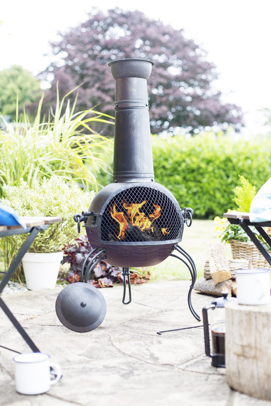Image of La Hacienda - Extra Large Steel Chiminea - Bronze Finish