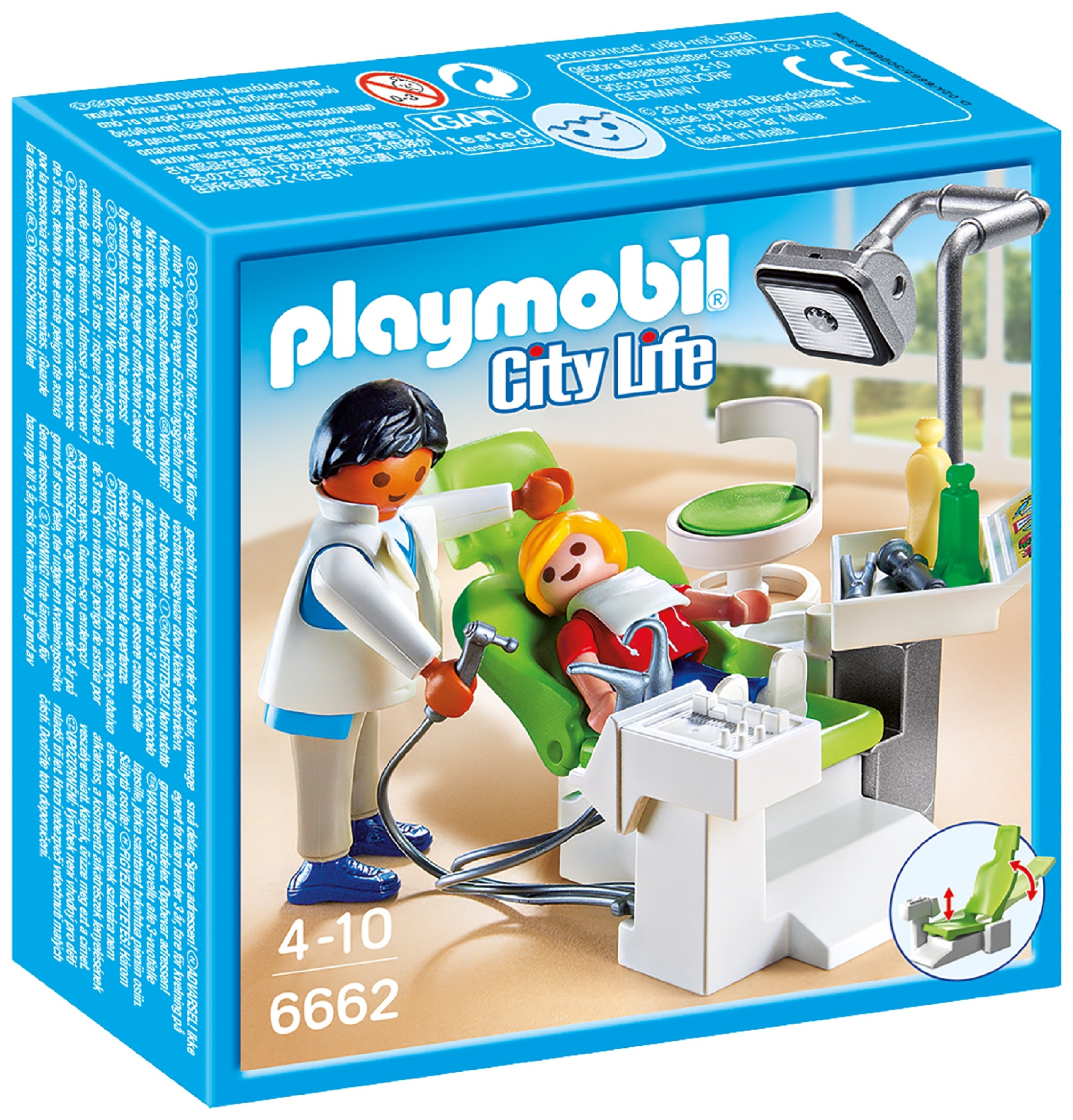 Playmobil 6662 City Life Dentist With Patient.
