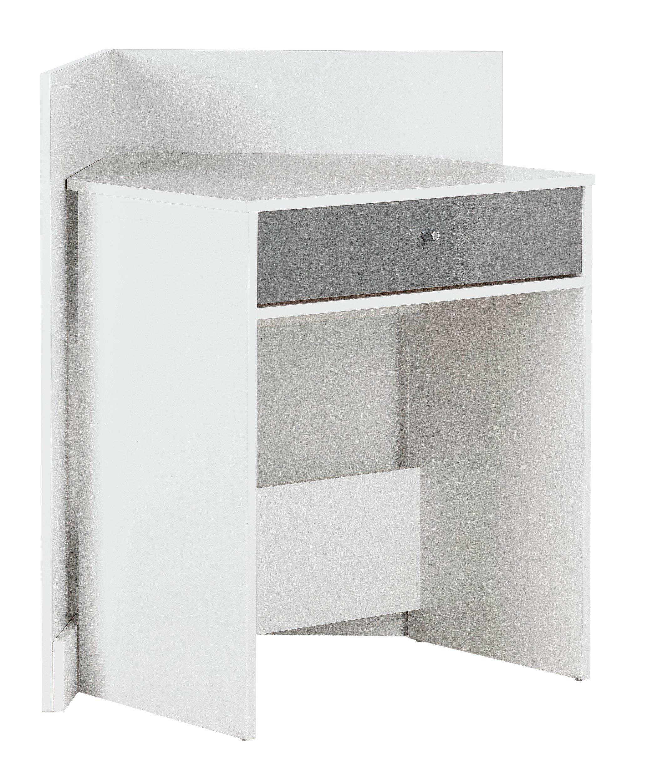 sale on home gloss front compact corner desk white. Black Bedroom Furniture Sets. Home Design Ideas