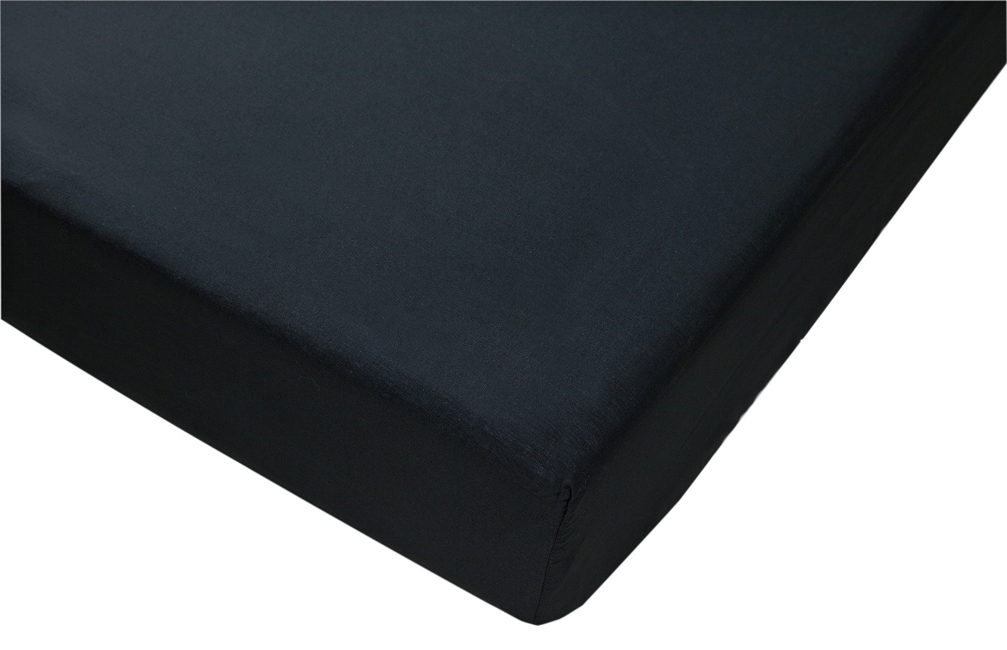 colourmatch jet black fitted sheet  double