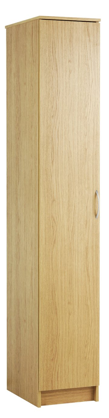 Argos Home Cheval Single Wardrobe - Oak Effect