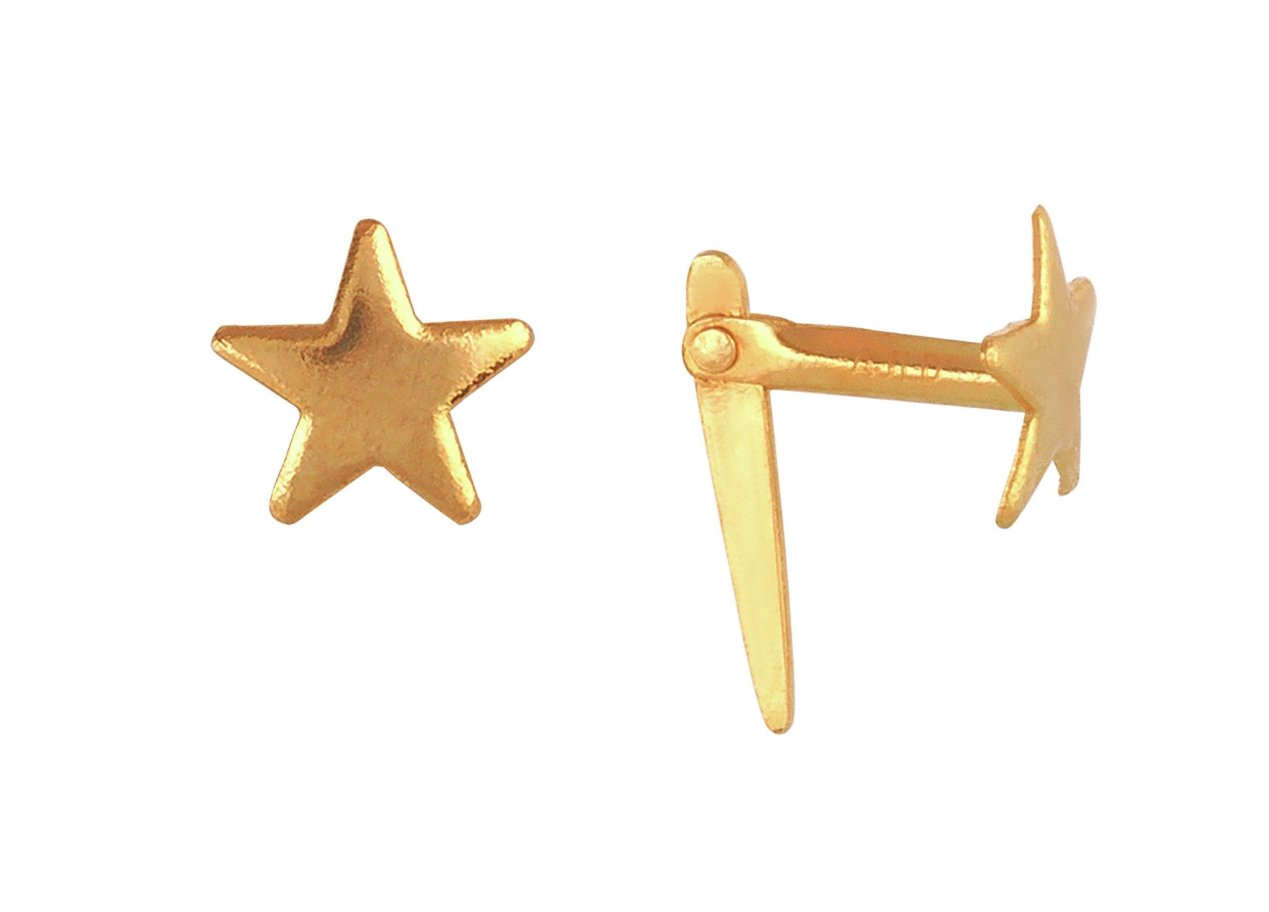 Image of Andralok 9ct Gold Star Stud Earrings