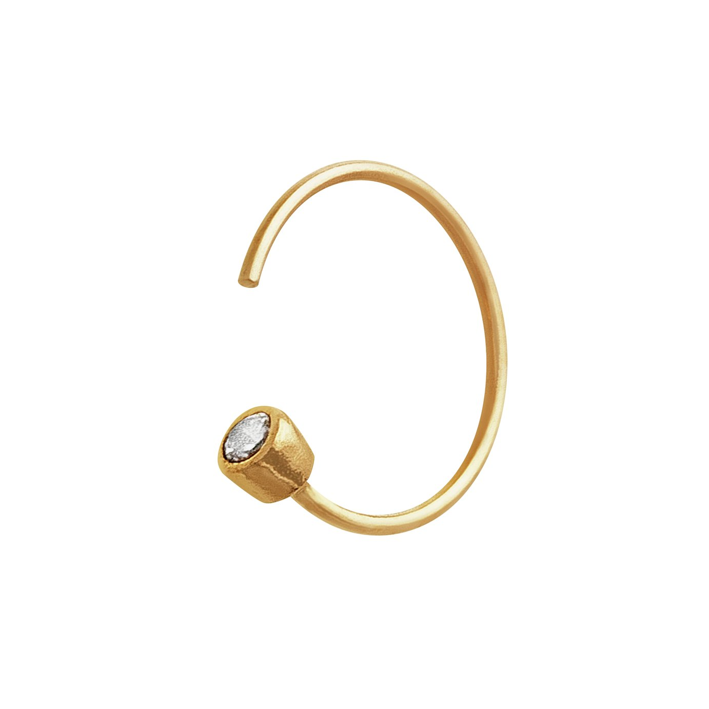 Buy State of Mine 9ct Gold Cubic Zirconia Single Nose Hoop at