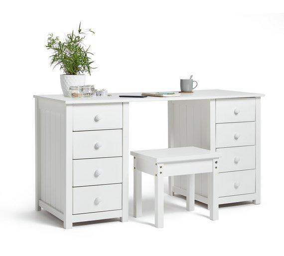 Buy HOME New Scandinavia Dressing Table White At Argoscouk - White dressing table argos