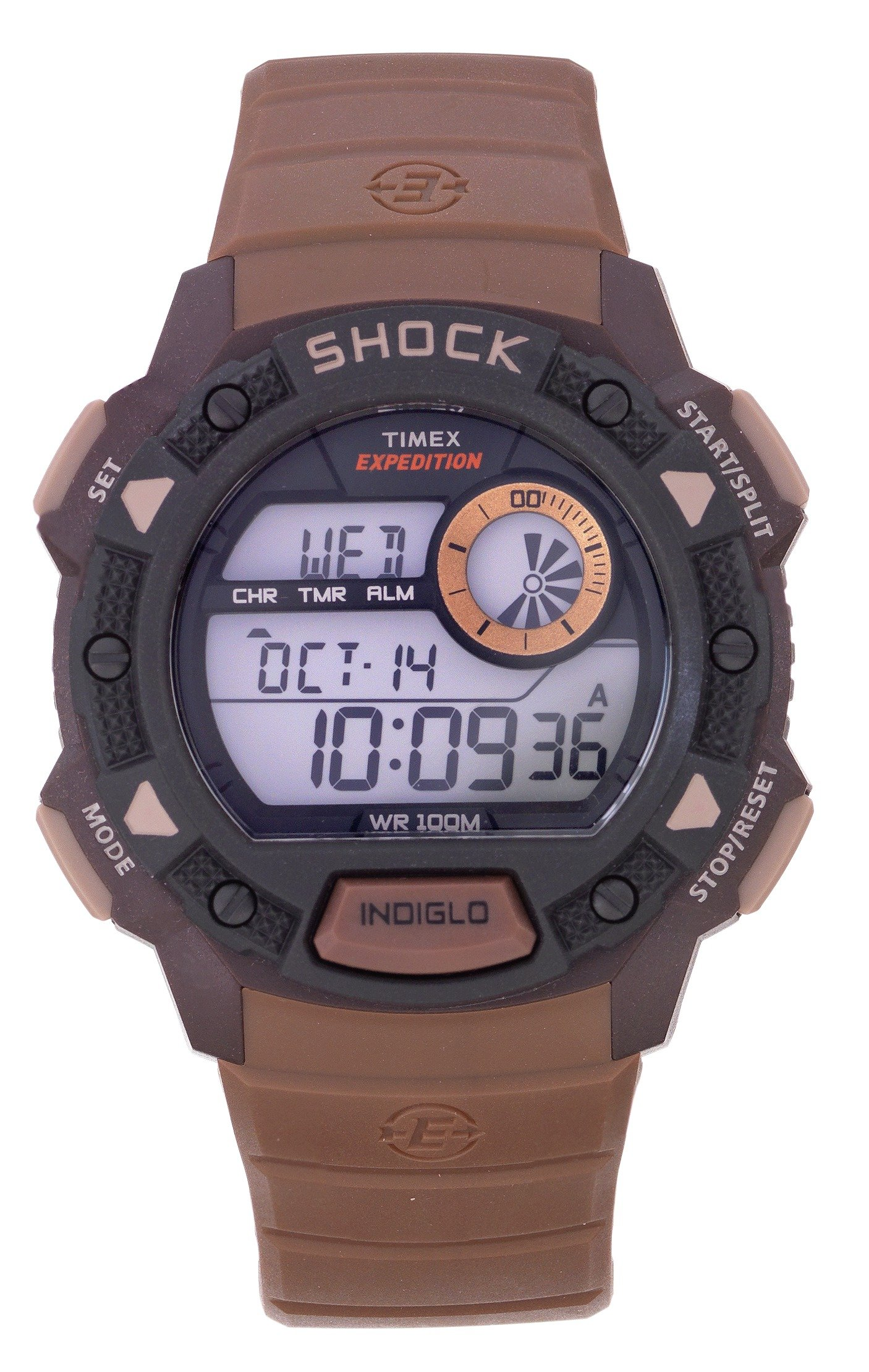 'Timex - Mens Expedition Shock Resistant Brown Strap - Watch