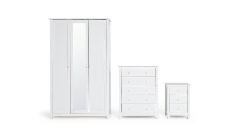 Habitat Scandinavia 3 Piece 3 Door Wardrobe Set - White
