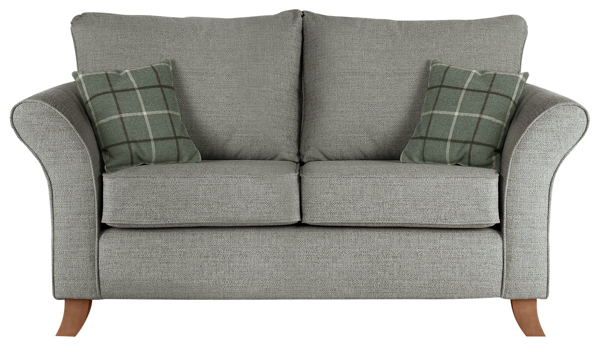 Argos Home Kayla 2 Seater Fabric Sofa - Light Grey