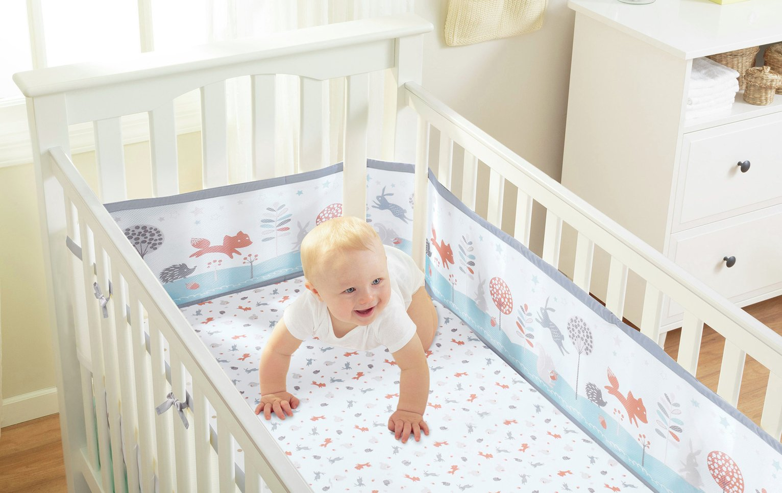 Image of BreathableBaby 2 Cot Bed Sheets - Enchanted Forest.