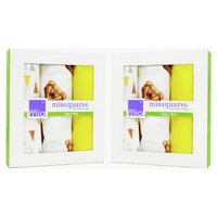 Bambino Mio Muslin Squares Grizzly - 3 Pack x 2.