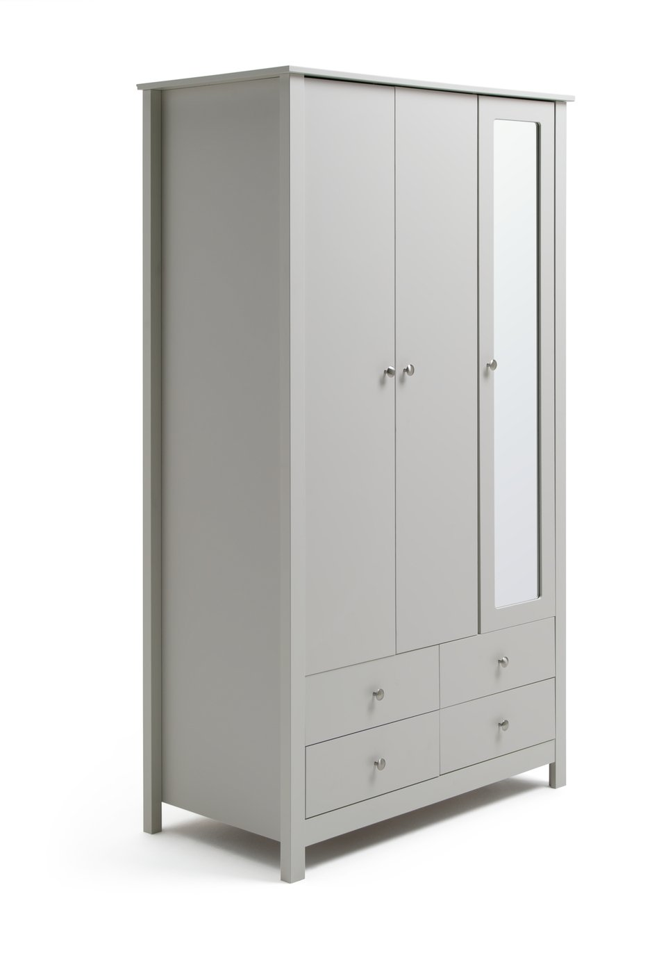 Argos Home Osaka 3 Door 4 Drawer Mirrored Wardrobe