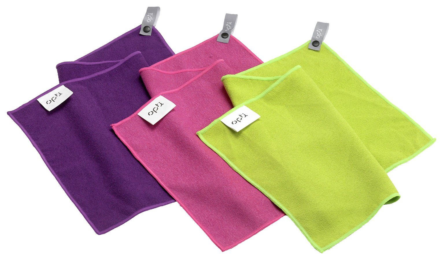 Opti Microfibre Gym Towels - Set of 3