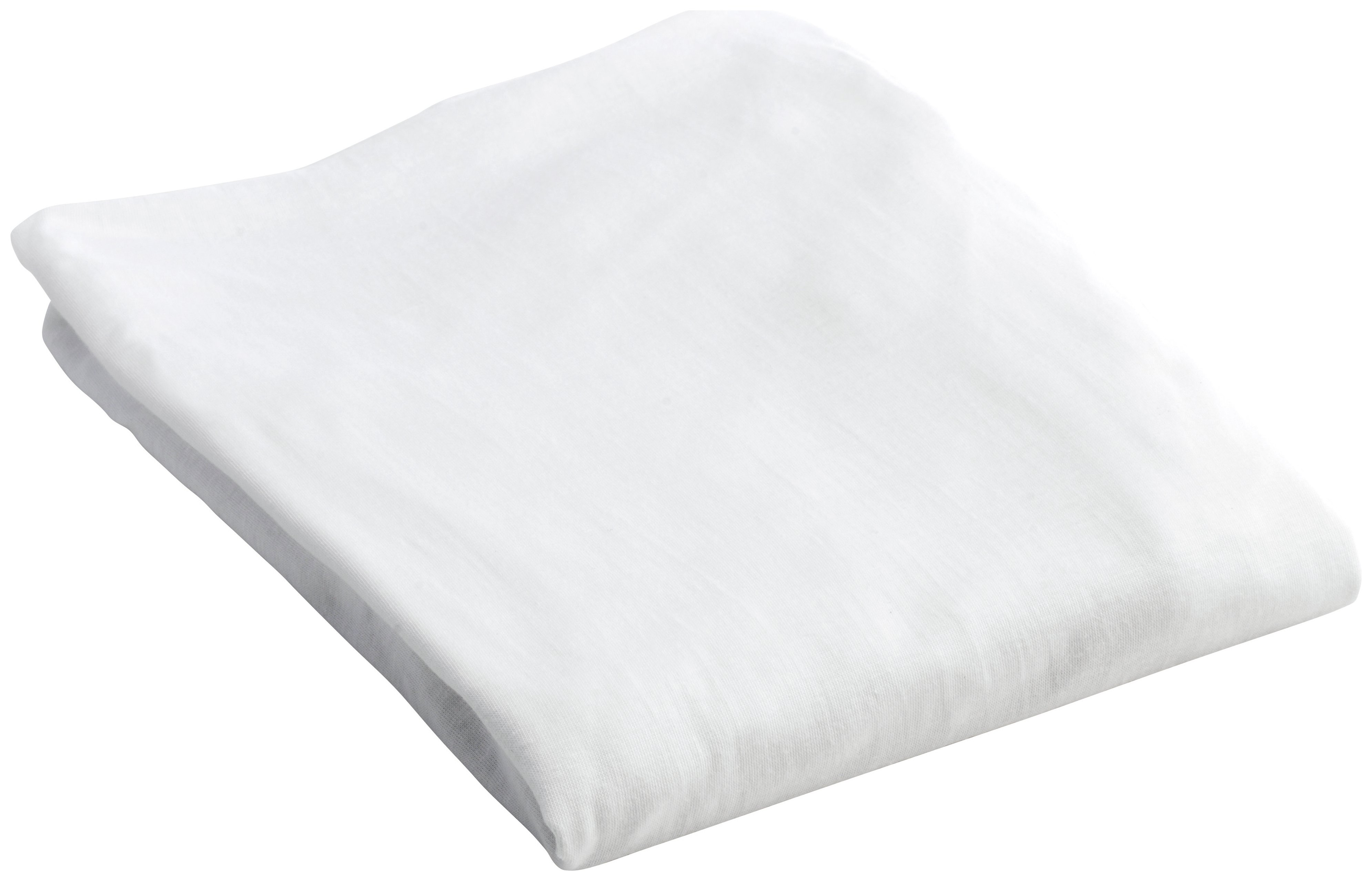 BabyDan - Cotton Fitted - Cot Sheet - White