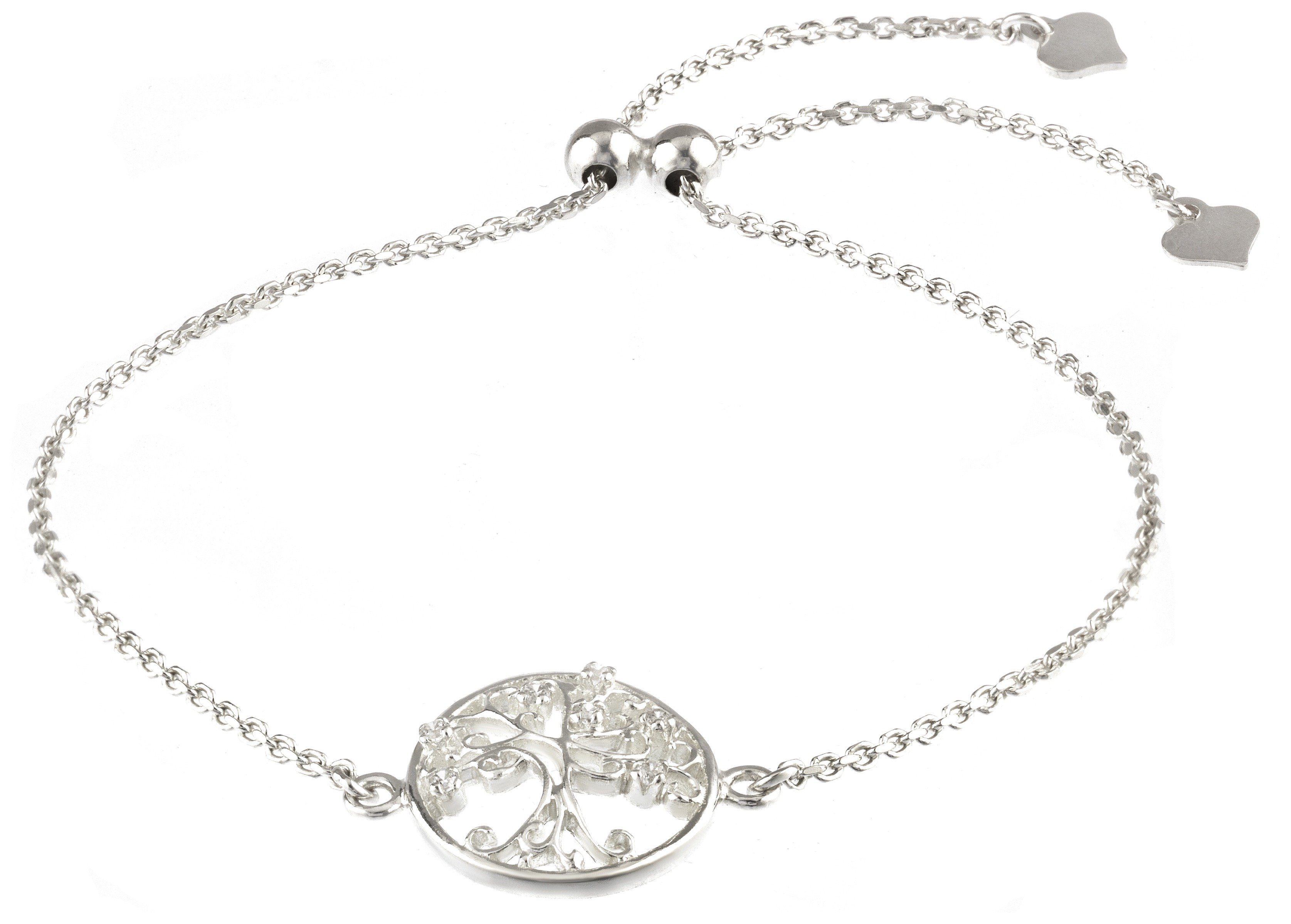 Image of Revere Sterling Silver Family Tree Slider Bracelet