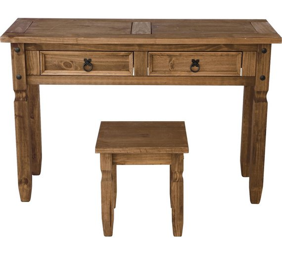 Collection Puerto Rico Dressing Table Stool Dark Pine