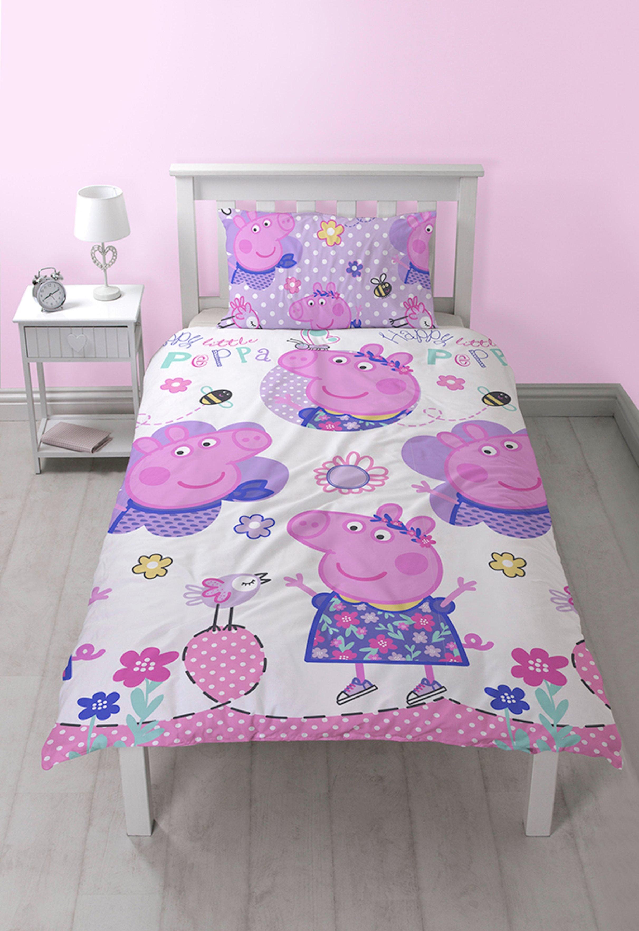 peppa pig happy bedding set  single