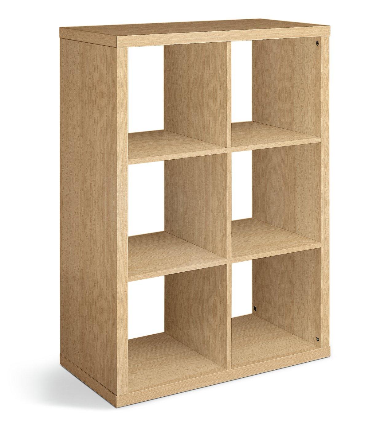 hygena squares plus 16 cube storage unit oak effect. Black Bedroom Furniture Sets. Home Design Ideas