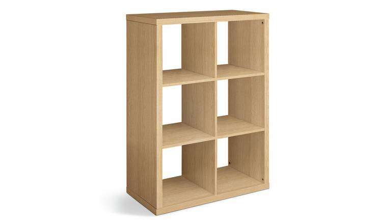 Habitat Squares Plus 6 Cube Storage Unit - Oak Effect