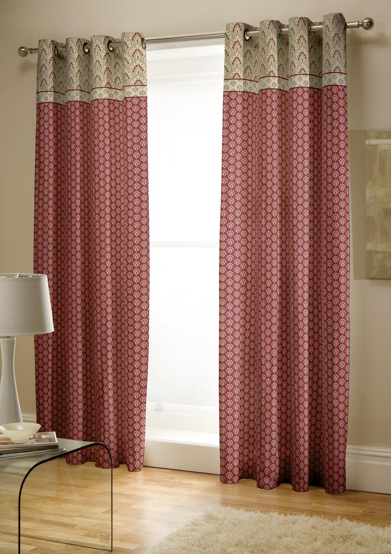 Image of Catherine Lansfield Kashmir Cotton Curtains - 168x183cm.