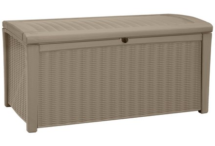 Image of the Keter Borneo Storage Bench - Cappuccino.