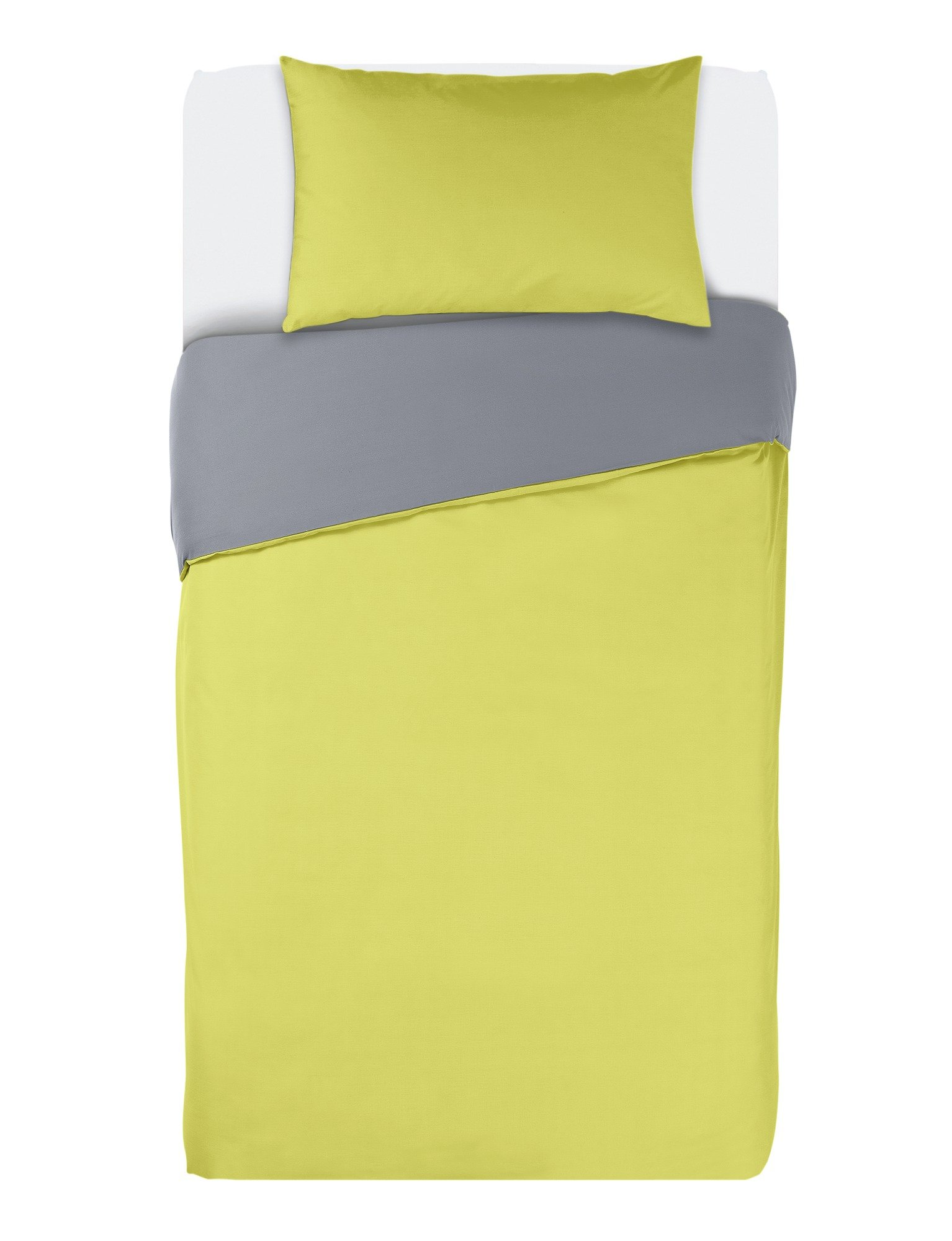 colourmatch flint grey/zest bedding set  single