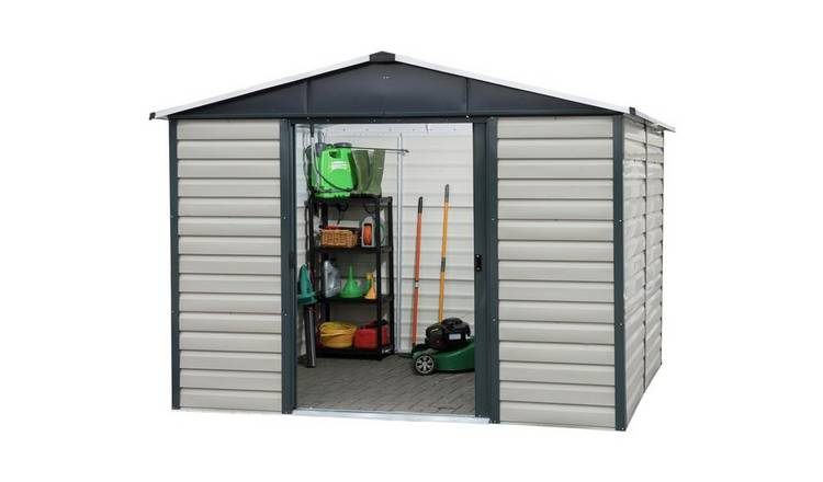 Yardmaster Extra Tall Metal Shiplap Shed - 10 x 6ft