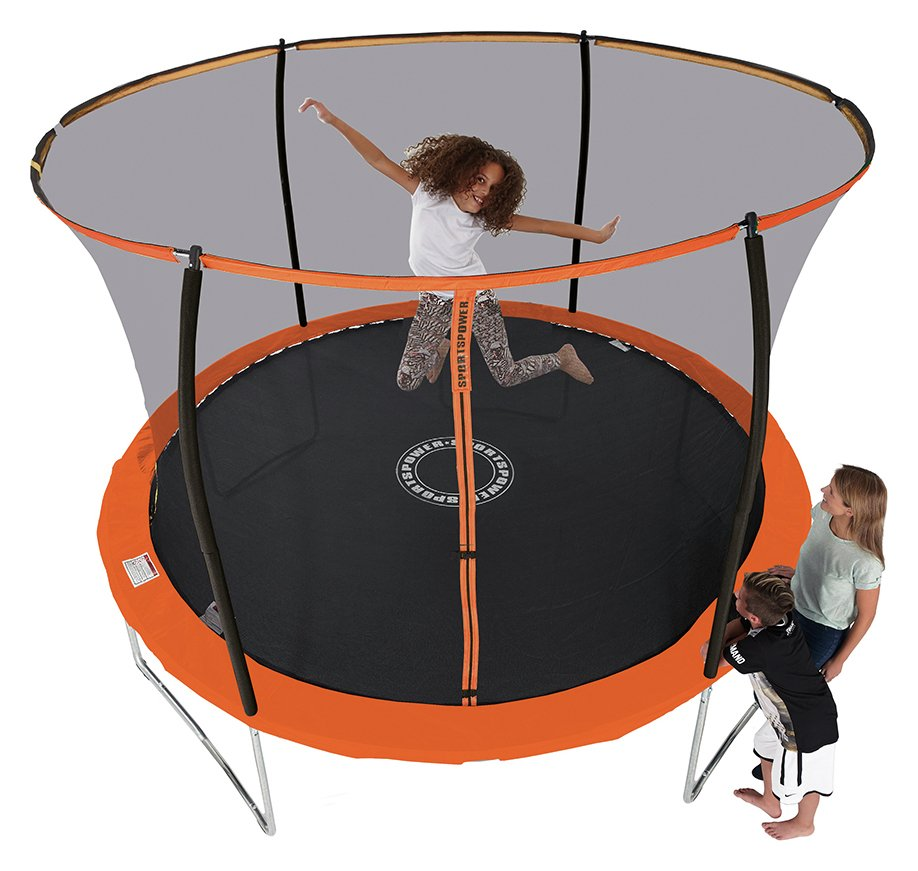 Trampoline With Folding Enclosure