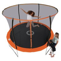 Sportspower 10ft Trampoline With Folding Enclosure (Red)
