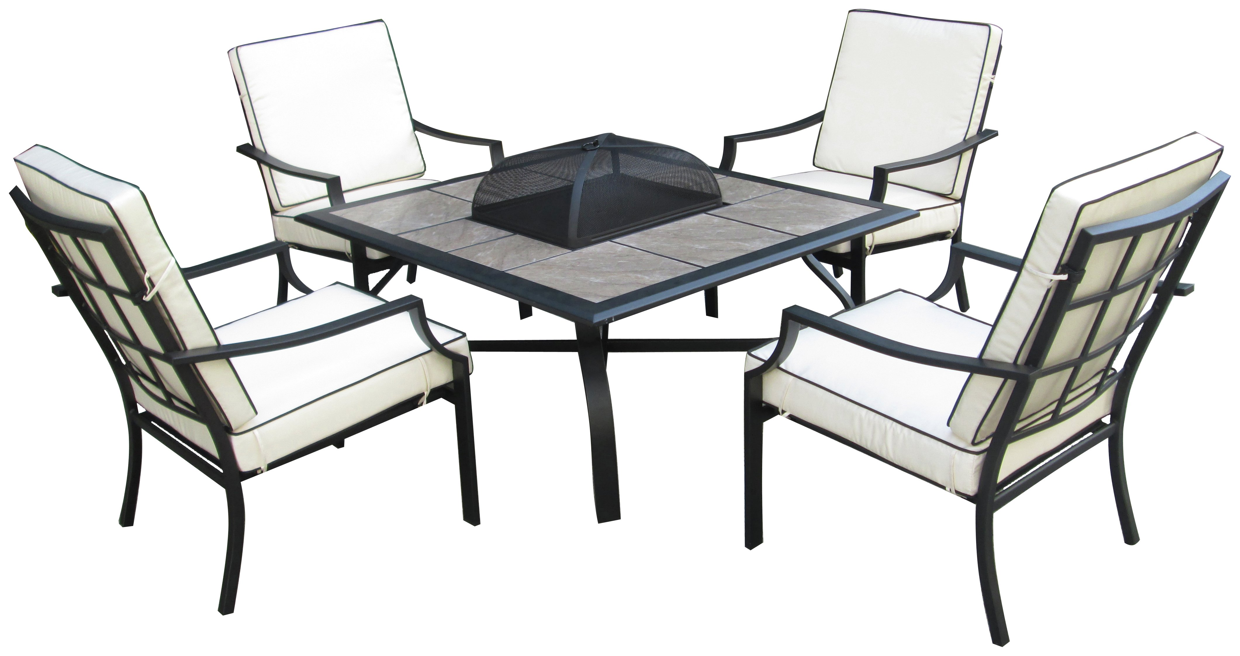 Buy Collection Barcelona 4 Seater Fire Pit Table At Argos.co.uk   Your  Online Shop For Garden Table And Chair Sets, Garden Furniture, Home And  Garden.