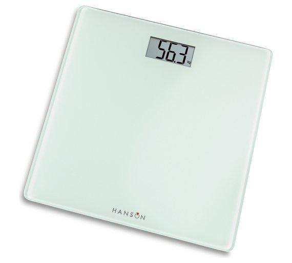 Hanson HX6000 White Electronic Bathroom Scales616 3343. Buy Hanson HX6000 White Electronic Bathroom Scales at Argos co uk