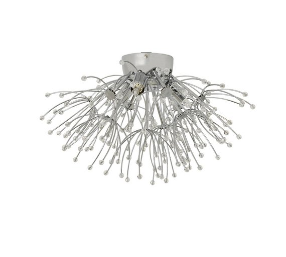 Buy argos home floella 3 light beaded ceiling light ceiling and argos home floella 3 light beaded ceiling light aloadofball Gallery