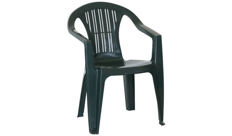 Buy Argos Home Resin Stacking Chair Green | Garden chairs and sun loungers | Argos