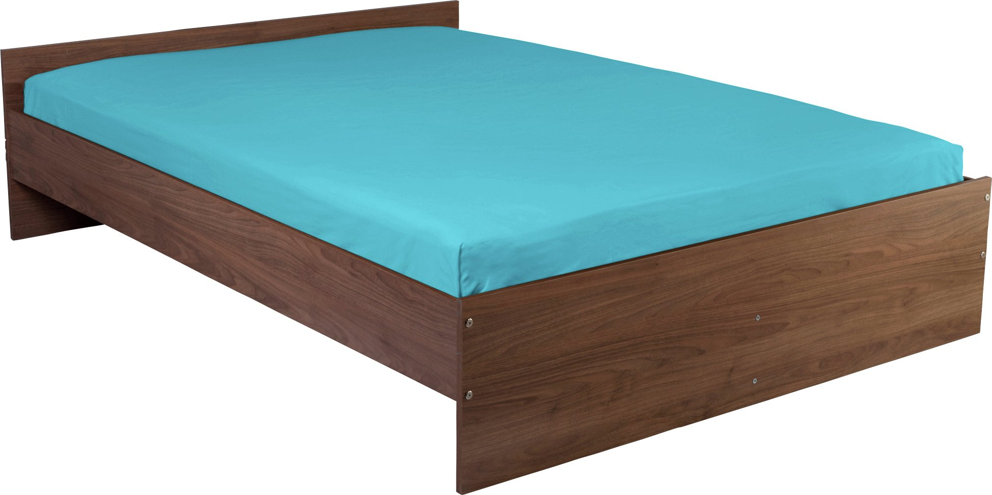 colourmatch crystal blue fitted sheet  kingsize