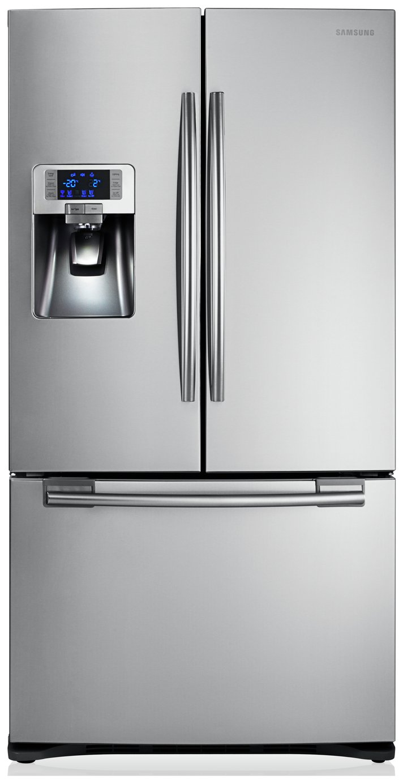 Samsung RFG23UERS1 G-series 3-door Large Capacity Freestanding Fridge Freezer - Real Stainless Steel