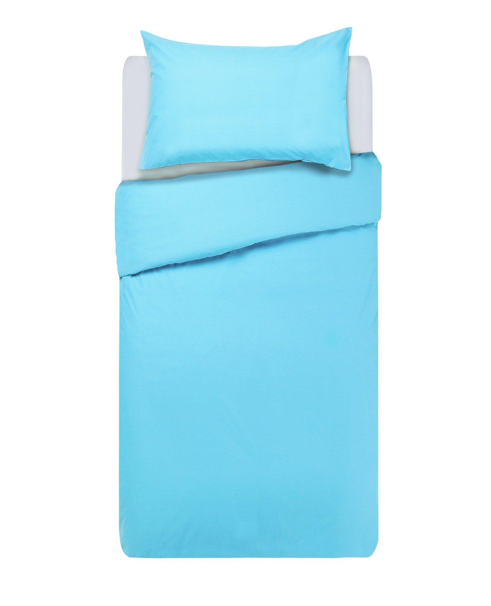 colourmatch crystal blue bedding set  single