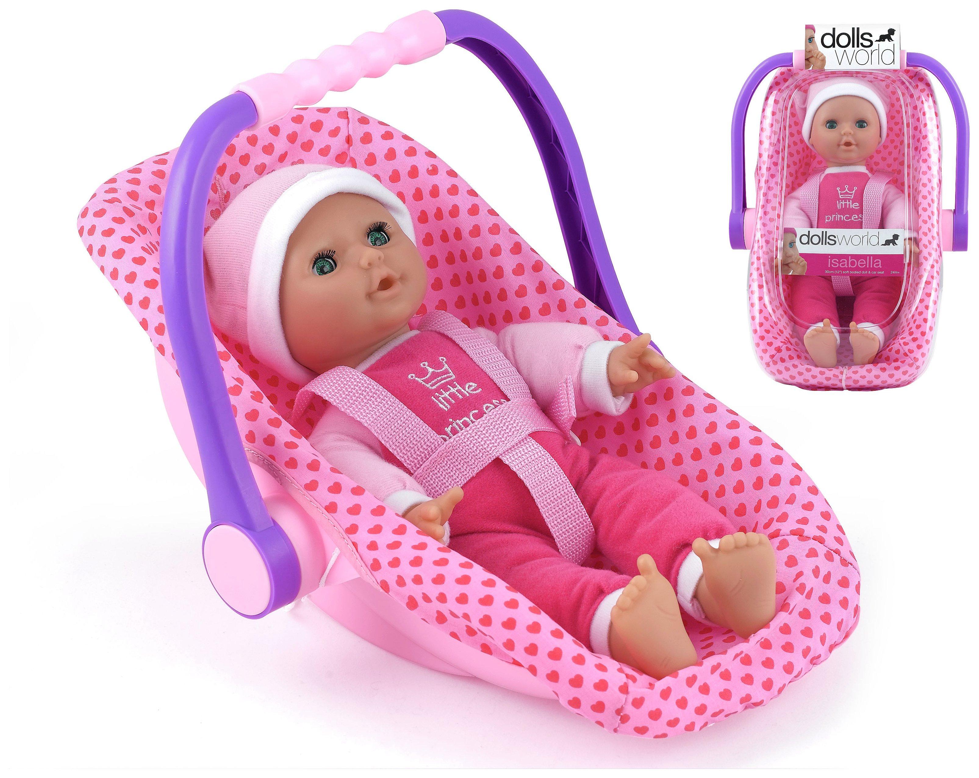 Image of Dollsworld Isabella Doll Rock Car Seat.