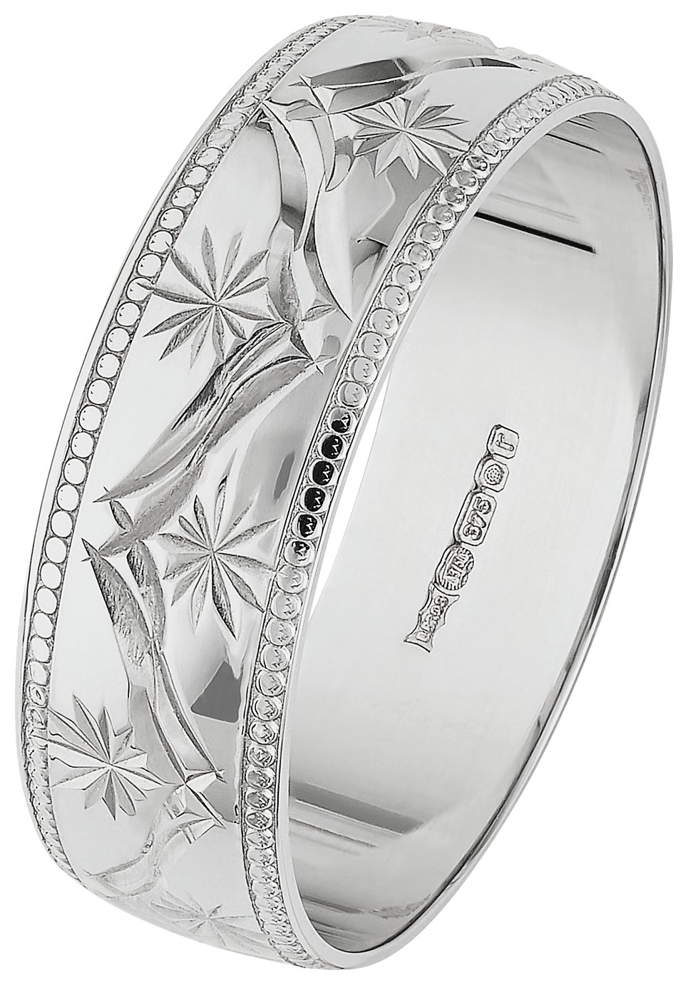revere-9ct-white-gold-diamond-cut-weddding-ring-6mm