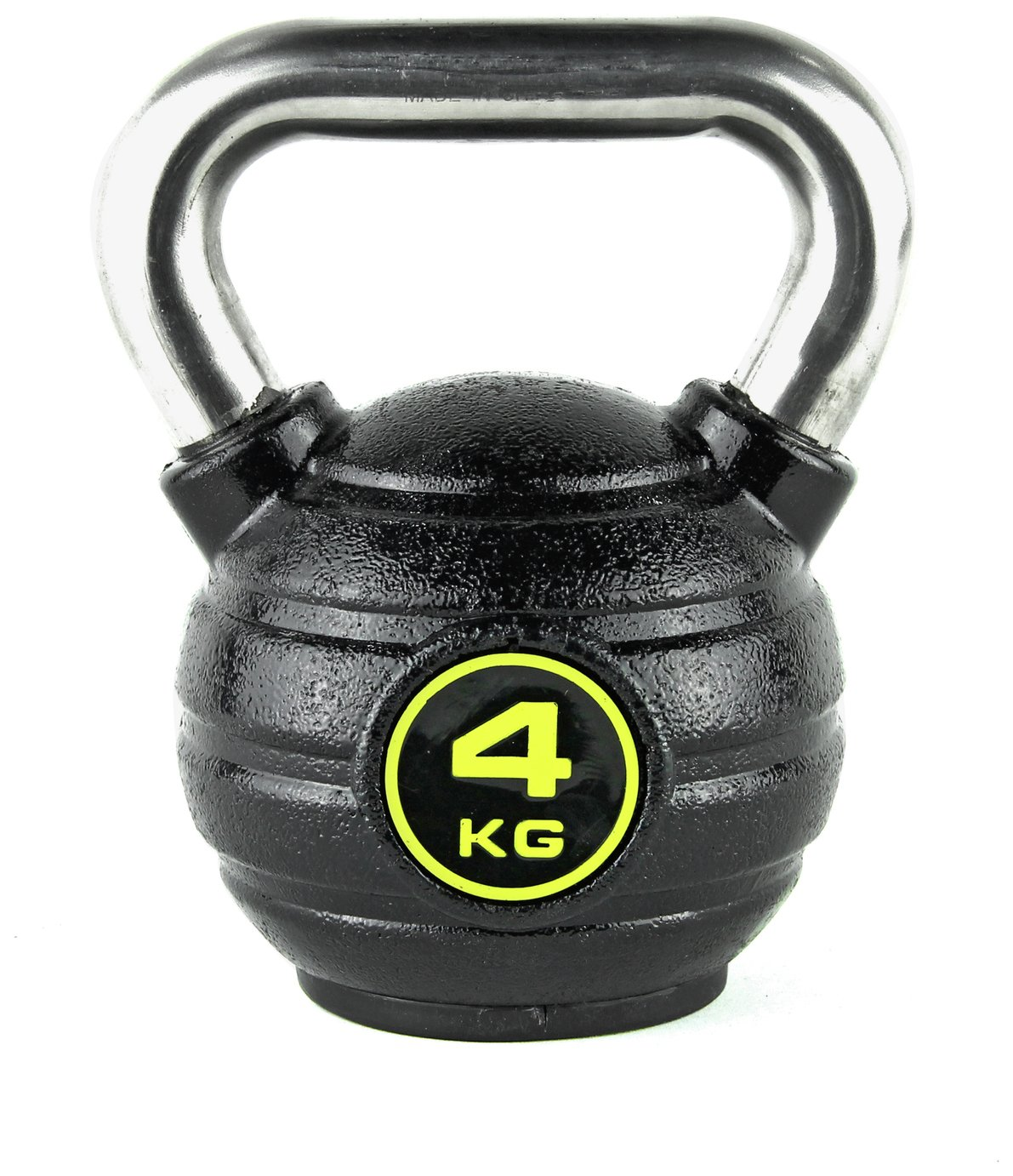 Opti Eco-Iron and Stainless Steel Kettlebell - 4kg