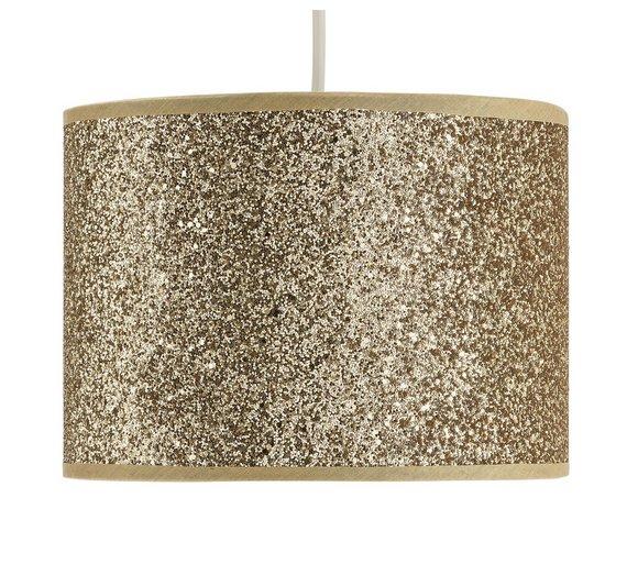 Buy home sparkling shade gold lamp shades argos home sparkling shade gold aloadofball Images