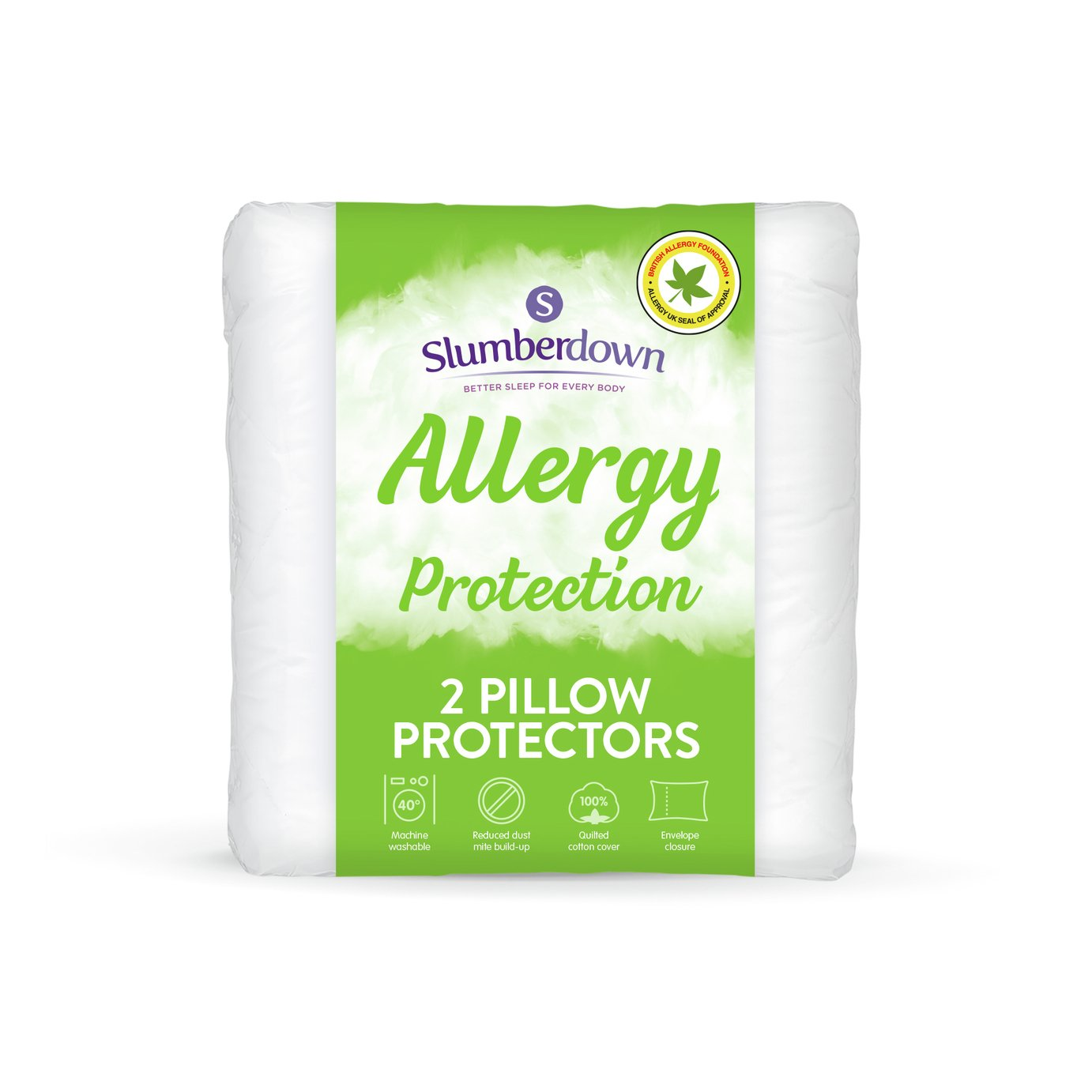 slumberdown fresh and healthy anti allergy pillow protectors