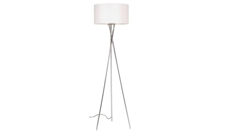 big sale ccf21 03bd6 Buy Argos Home Chrome Tripod Floor Lamp - Chrome & White   Floor lamps    Argos