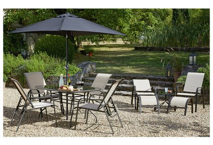 Image of HOME Sicily 11 Piece Adjustable Dining Set.