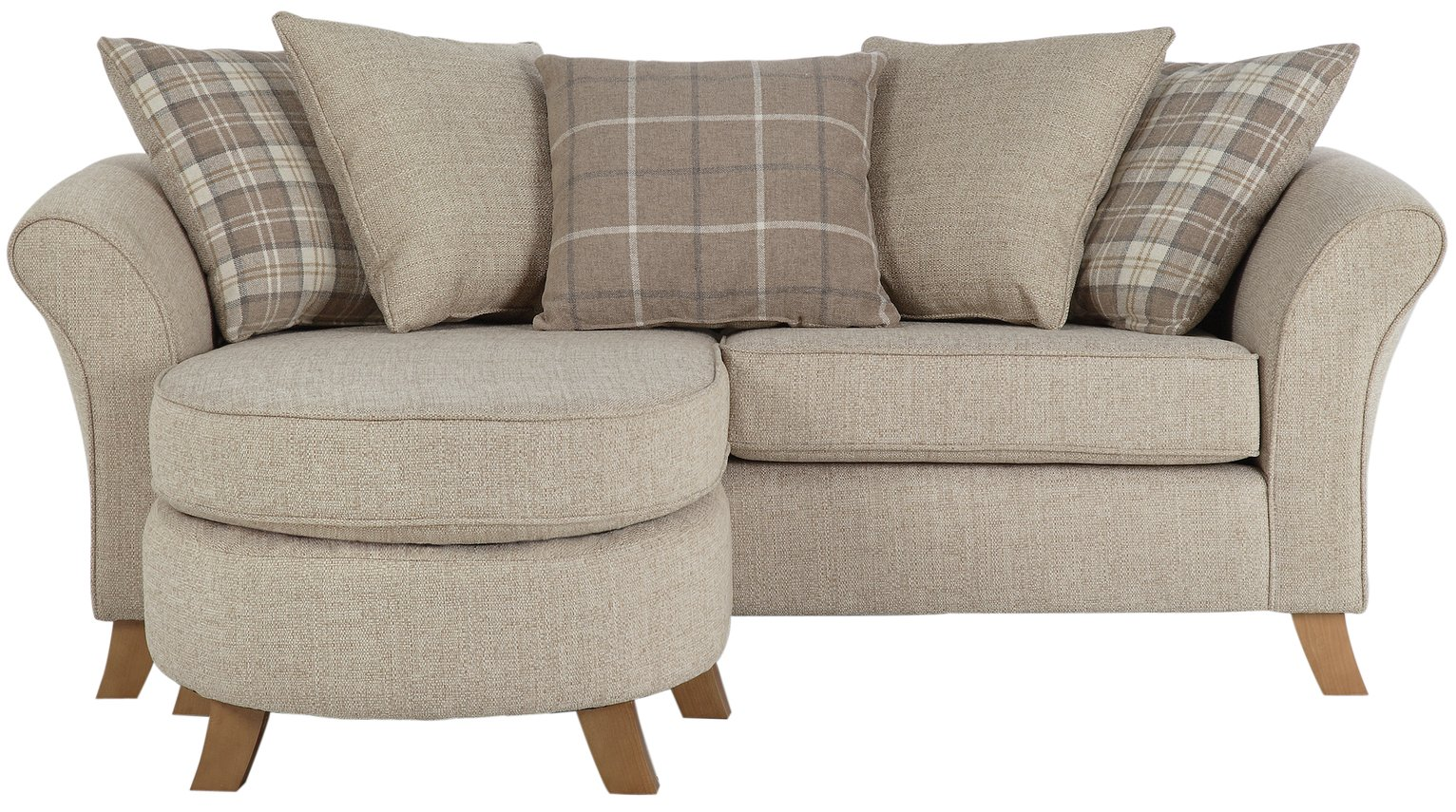 Alexi 4 seater sofa bed with right hand storage chaise and for Argos chaise longue