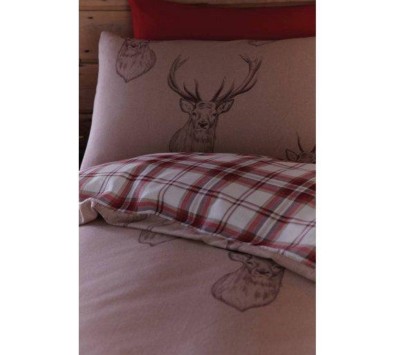 buy catherine lansfield natural stag duvet cover set. Black Bedroom Furniture Sets. Home Design Ideas
