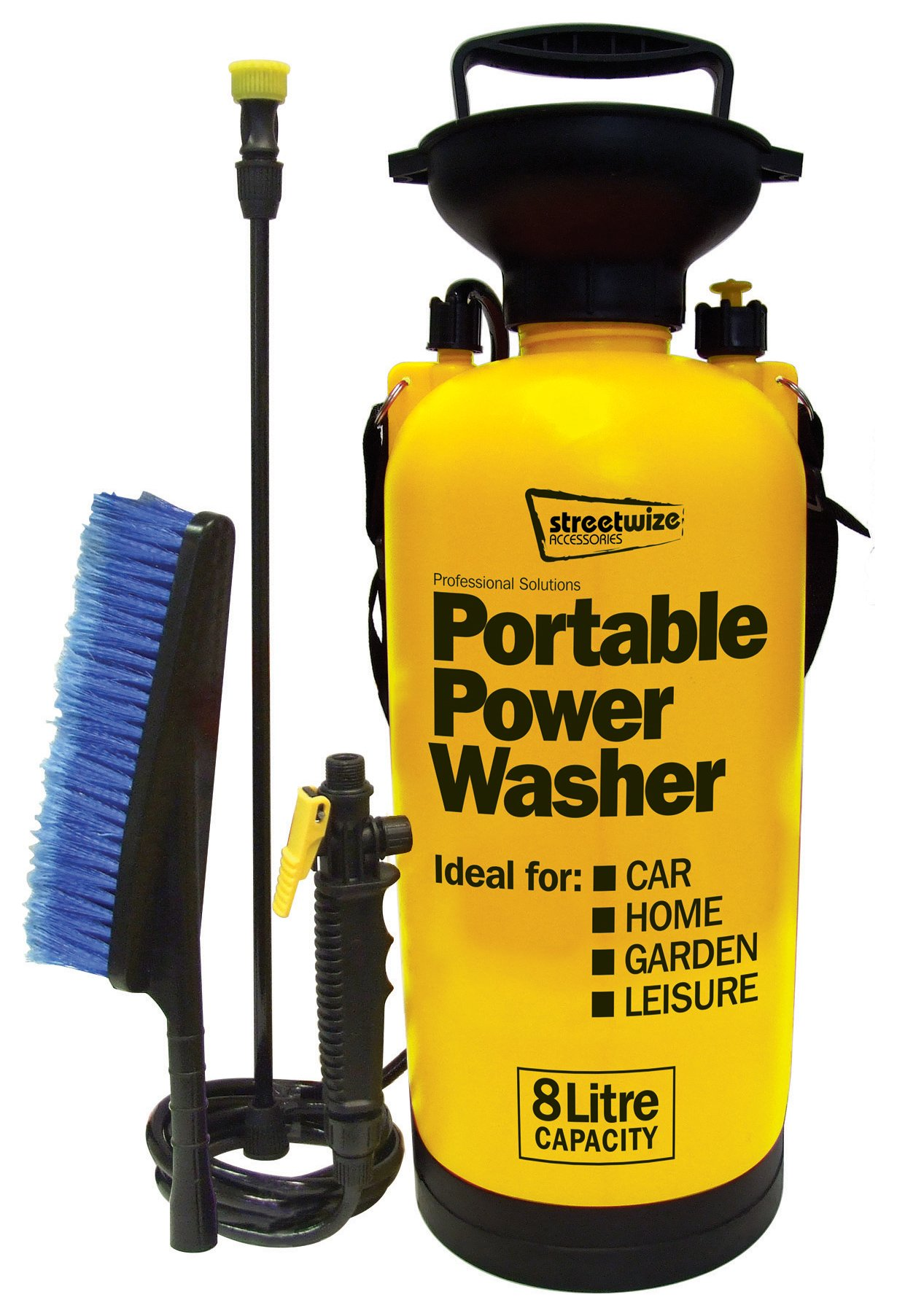 Streetwize Portable Power Washer - 8 Litre.