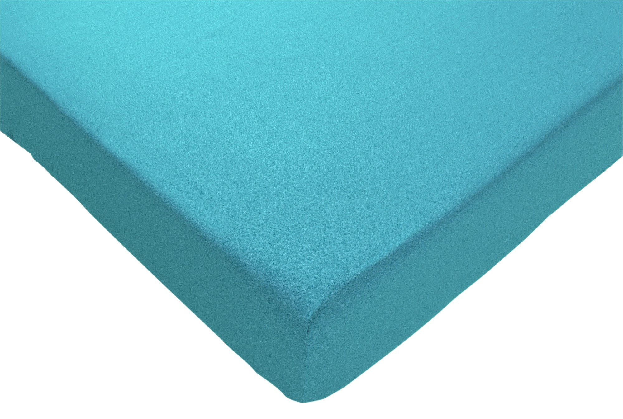 colourmatch teal fitted sheet  double