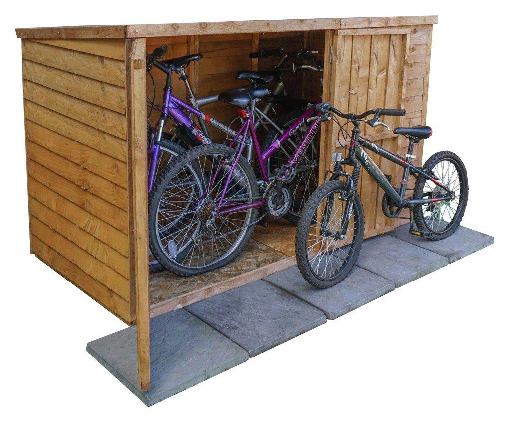 Image of Mercia - Wooden Overlap 4 x 6 Bike Store