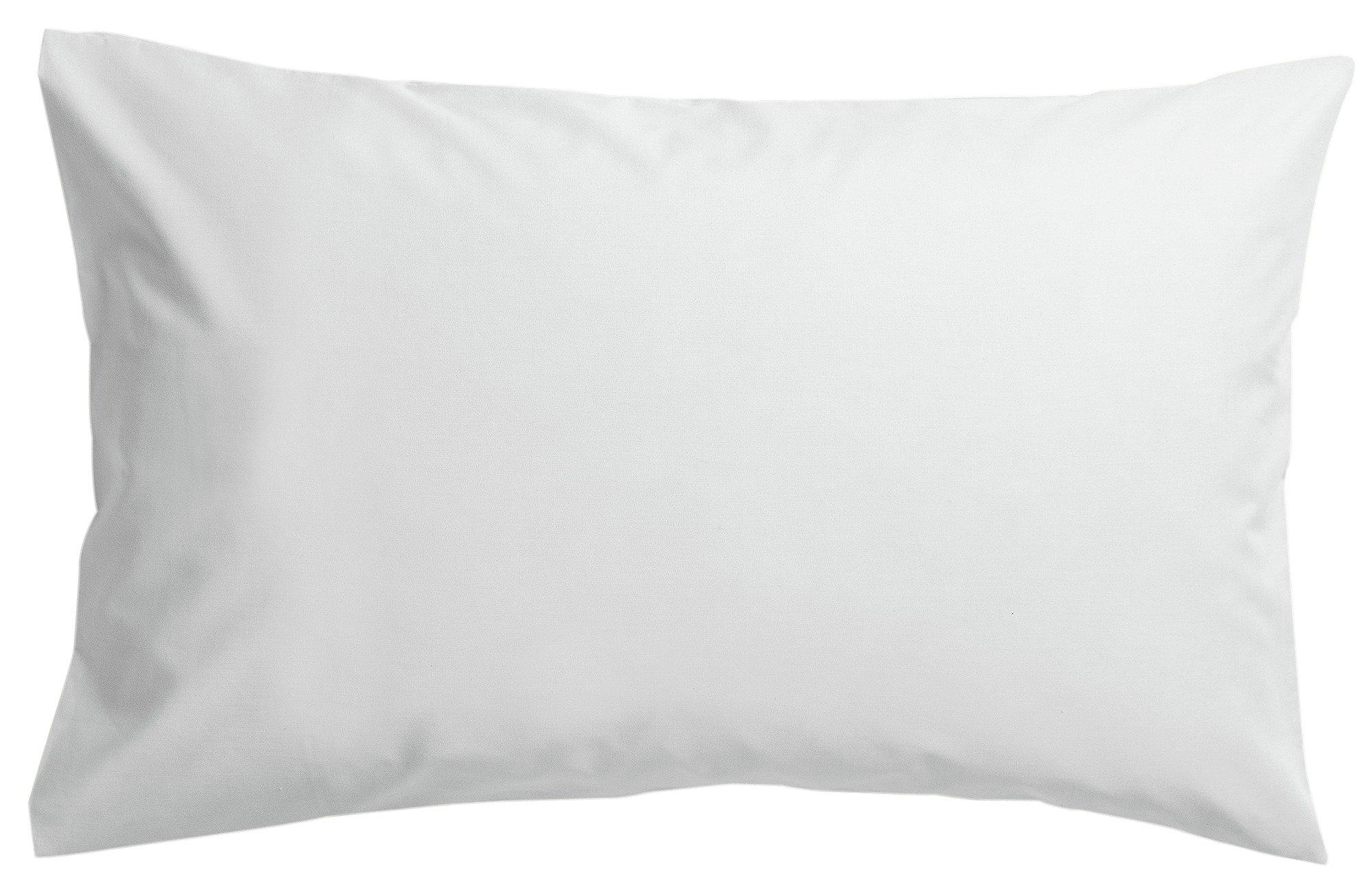 collection pair of non iron housewife pillowcases  white
